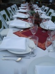 Beach Plum Chef of Cape Cod Personal Chef and Catering Long Table Setting Outdoors