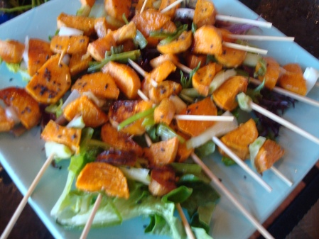 Beach Plum Chef of Cape Cod Sweet Potato w Green Onion and Lemon Appetizer