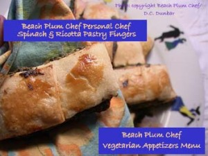The Beach Plum Chef Extensive Appetizers Menu