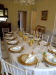 Beach Plum Chef of Cape Cod Table Setting Catering 2012